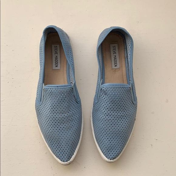 06e7db31acf STEVE MADDEN Virggo Mesh Pale Blue Slip on Sneaker